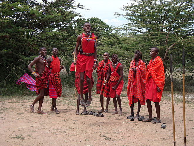 Maasai at Magi Moto